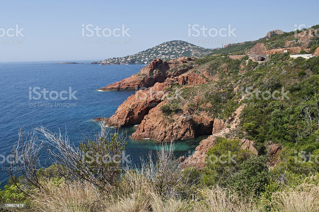 Mediterranean Coast near Théoule-sur-Mer royalty-free stock photo