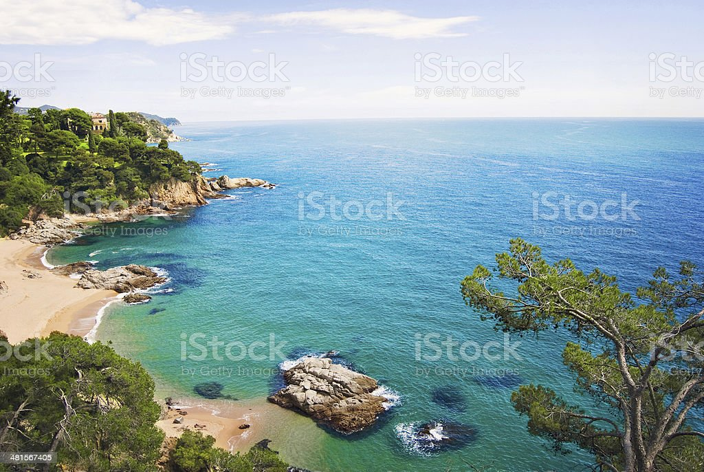 Mediterranean coast stock photo