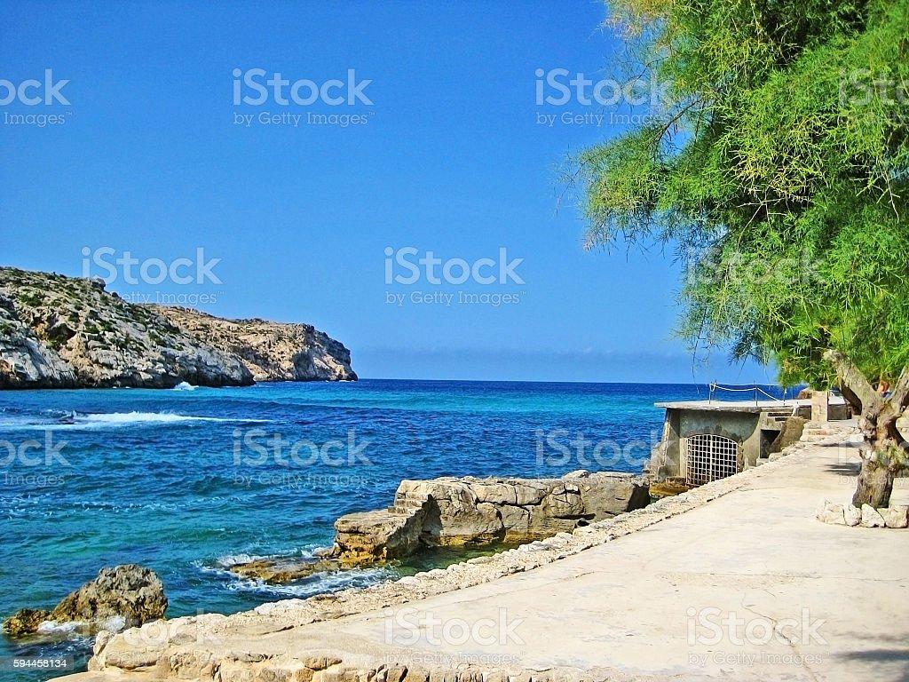 mediterranean coast, turquoise water stock photo