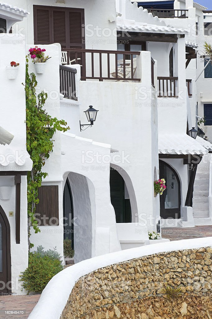 Mediterranean coastal village stock photo