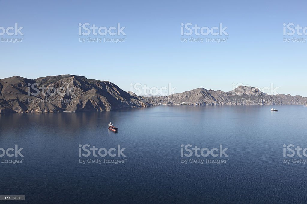 Mediterranean coastline in Spain stock photo
