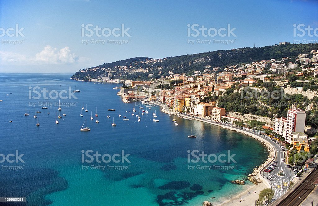 Mediterranean coastline stock photo