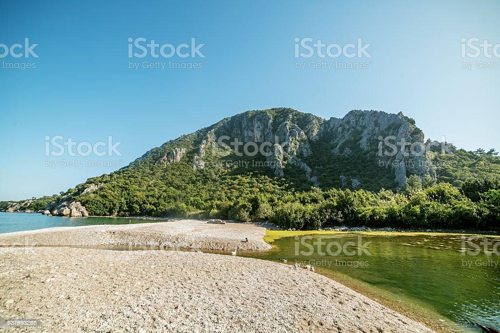 Mediterranean cost next to Kemer, Antalya Destrict, Turkey stock photo