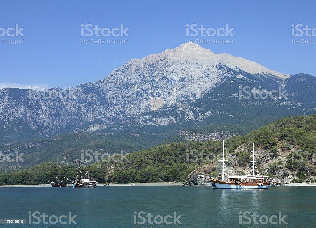 Mediterranean cost stock photo
