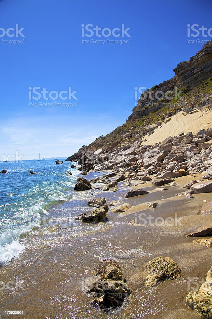 Mediterranean cove stock photo