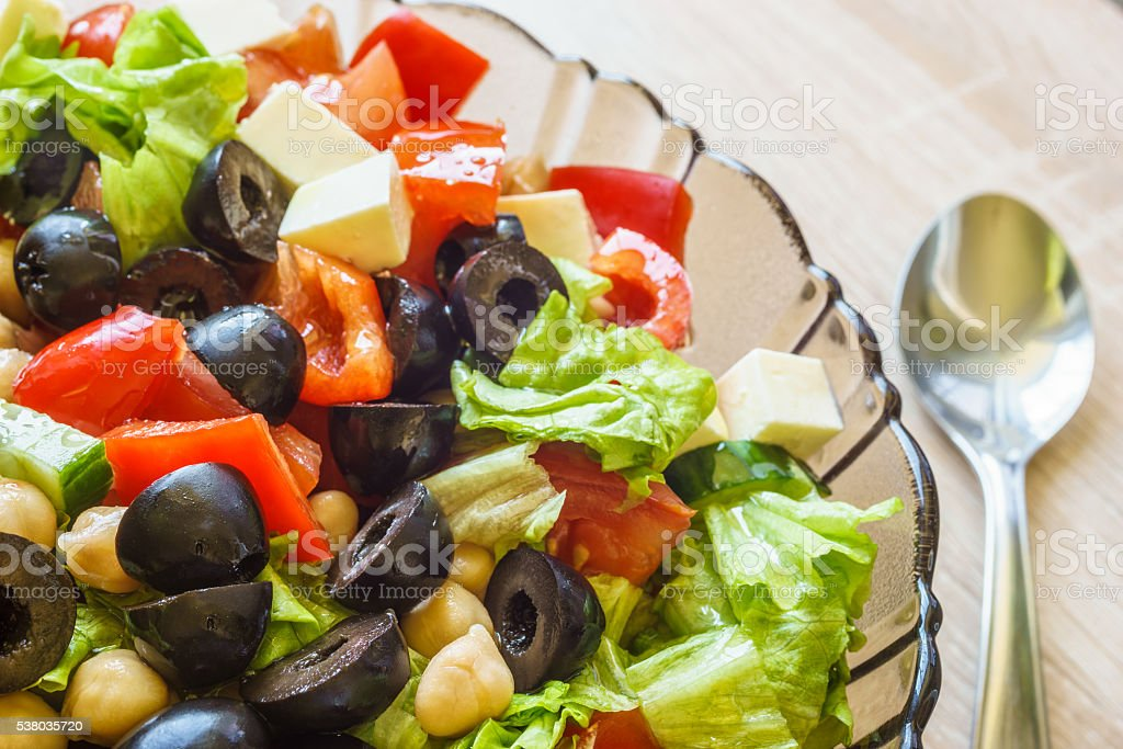 Mediterranean cuisine fresh salad stock photo