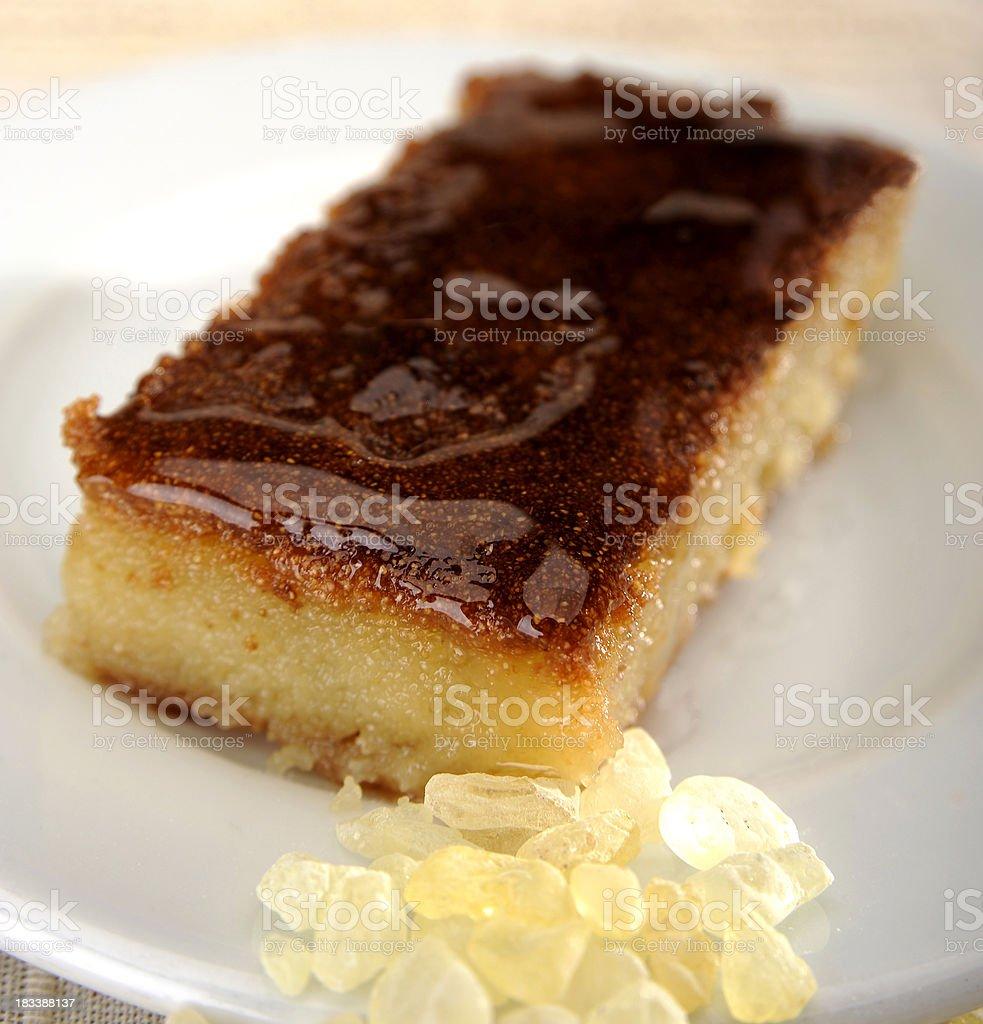 Mediterranean Dessert Samali with gum royalty-free stock photo