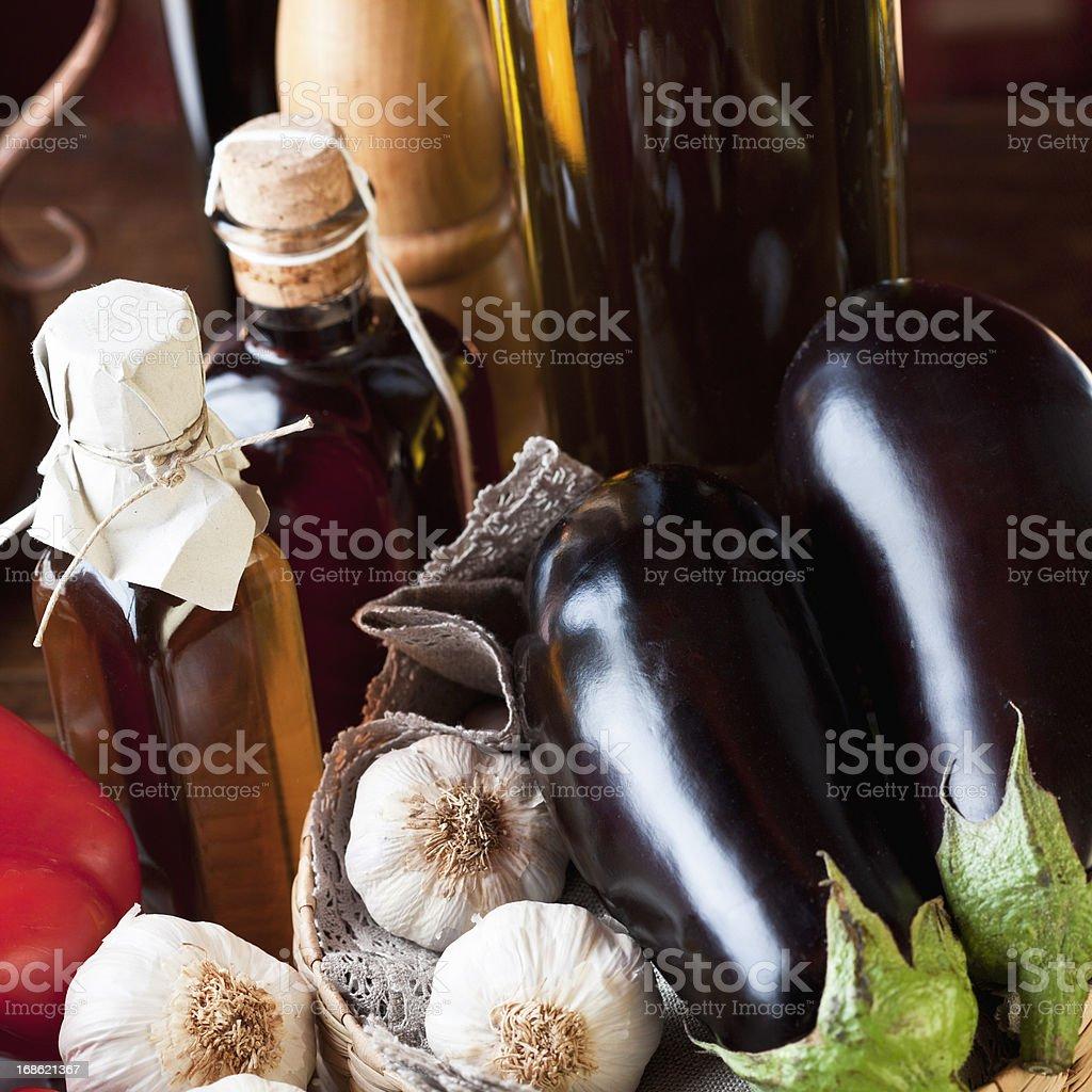 Mediterranean diet still life royalty-free stock photo