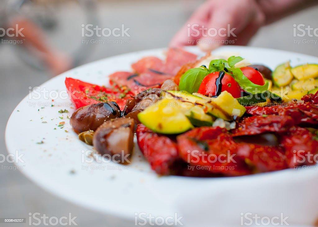 Mediterranean dish stock photo