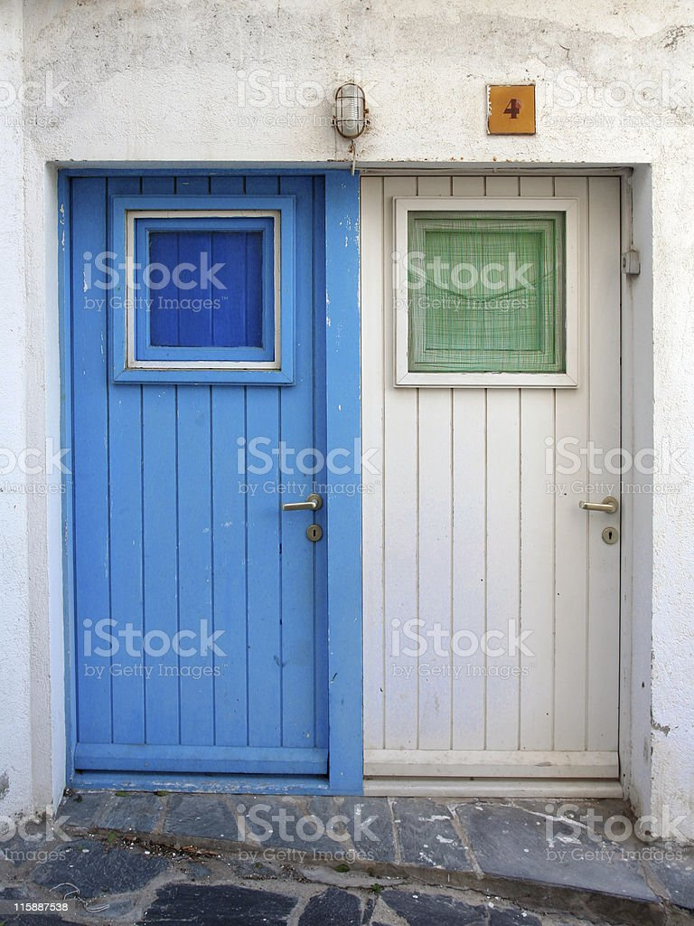 Mediterranean door royalty-free stock photo