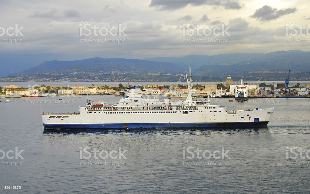 Mediterranean ferry boat royalty-free stock photo