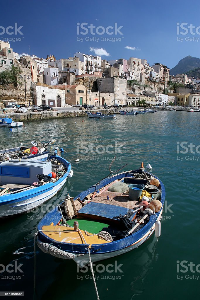Mediterranean Fishing Boat stock photo