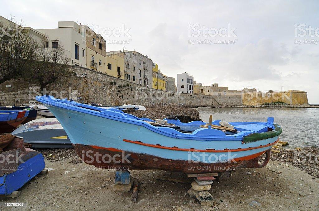 Mediterranean fishing boat (Trapani-Italy) royalty-free stock photo