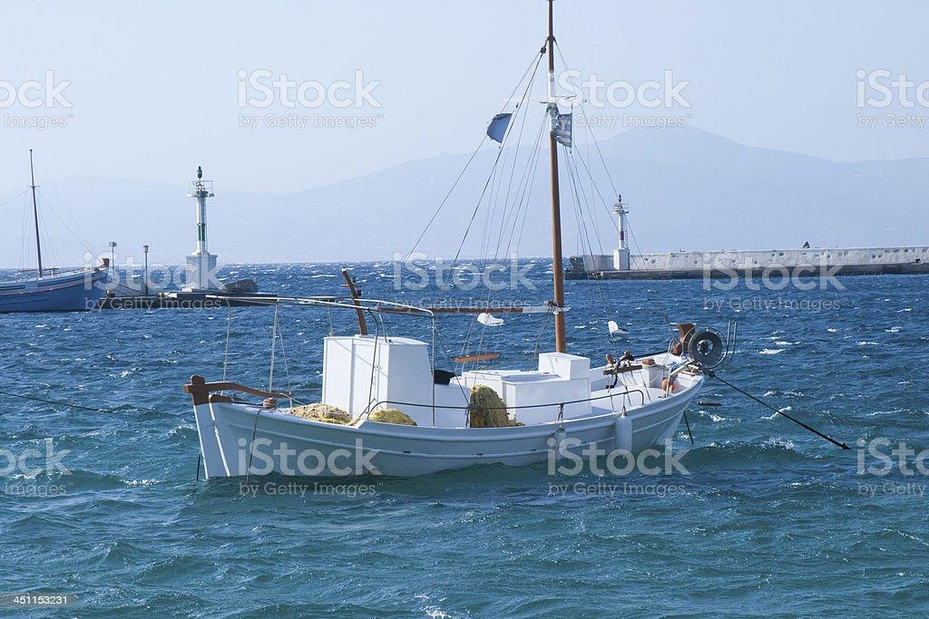 Mediterranean Fishing Boat royalty-free stock photo