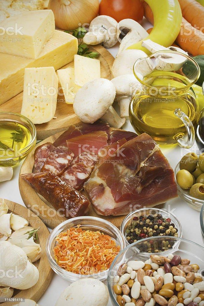 Mediterranean food ingredients royalty-free stock photo