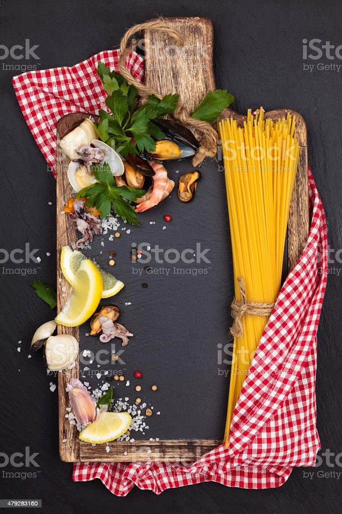 Mediterranean food. Pasta. stock photo