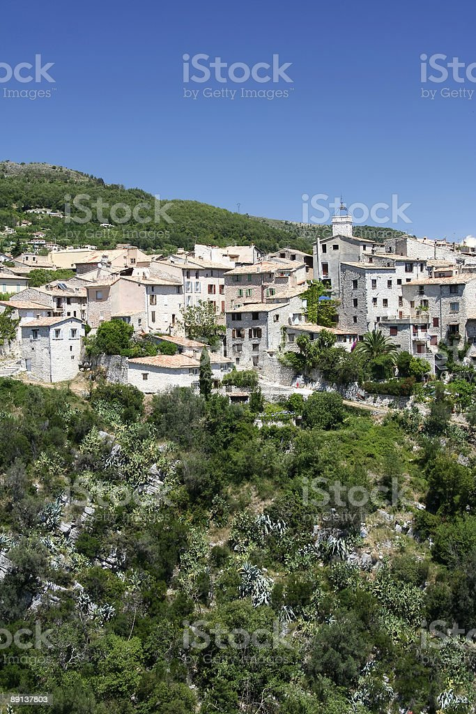 mediterranean hill town south of france royalty-free stock photo