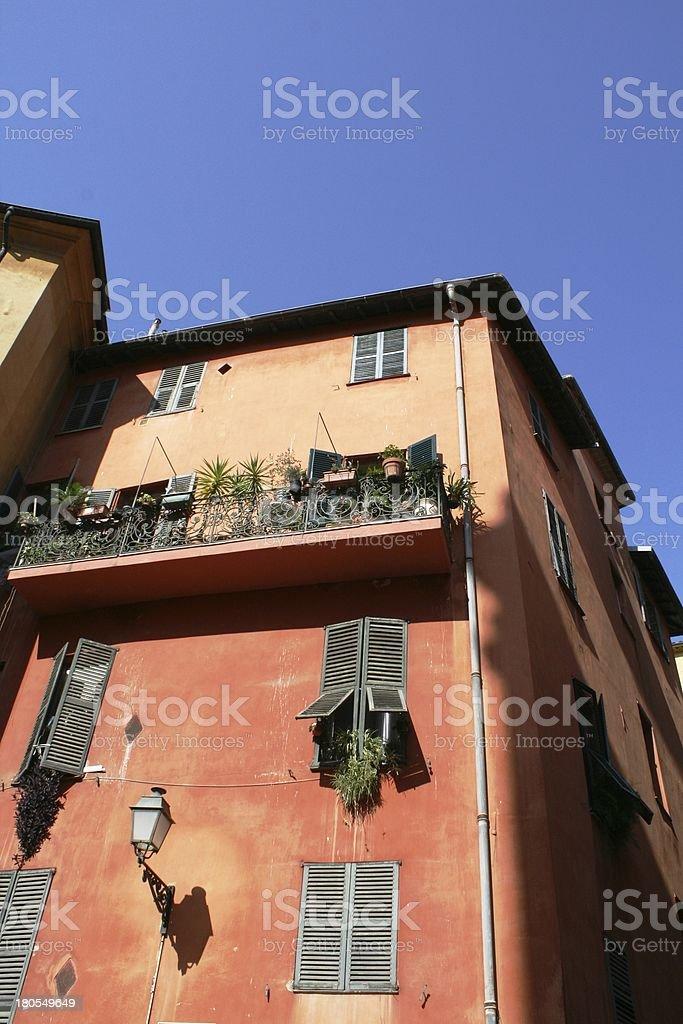 mediterranean house in nice stock photo