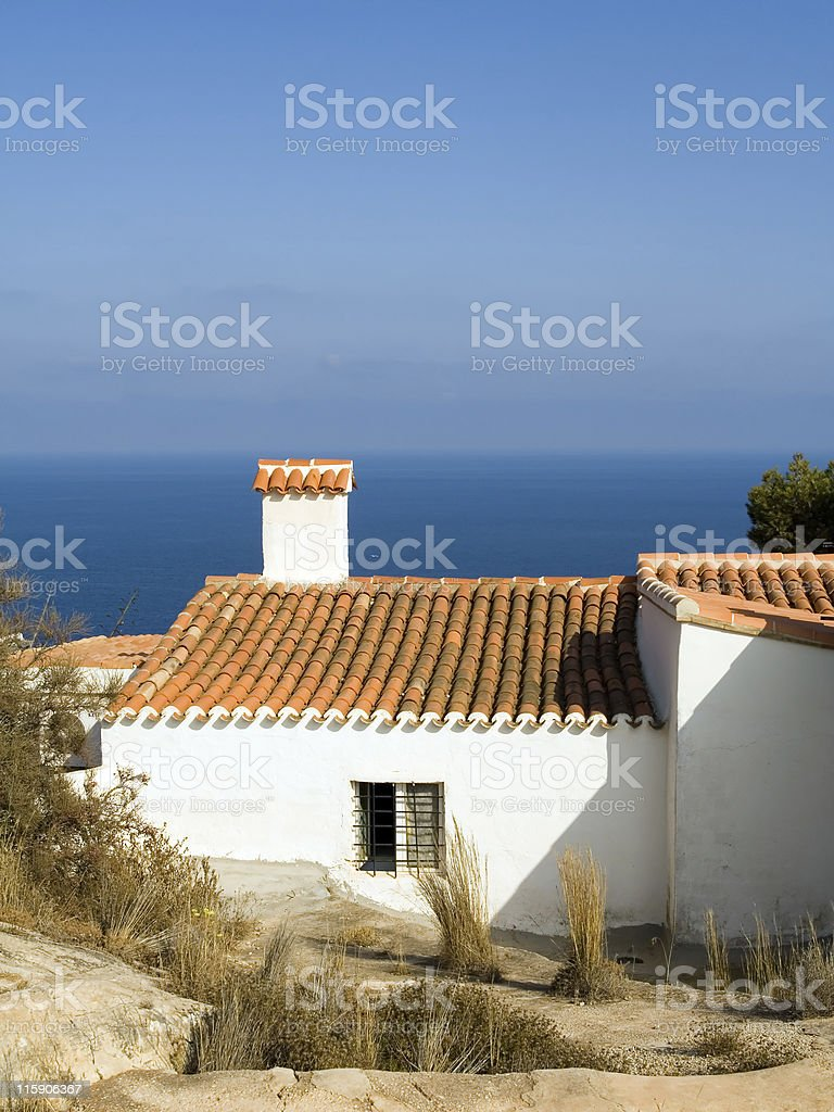 Mediterranean house royalty-free stock photo