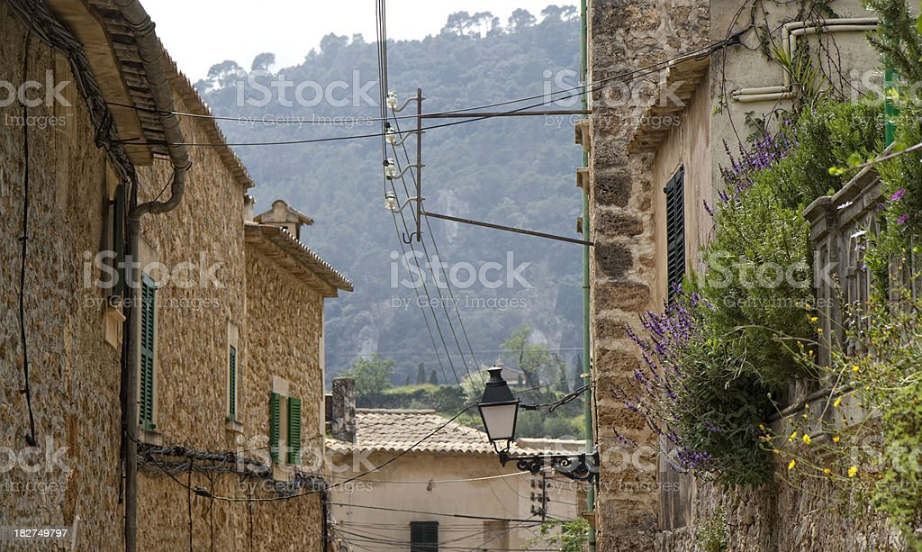 Mediterranean houses front stock photo