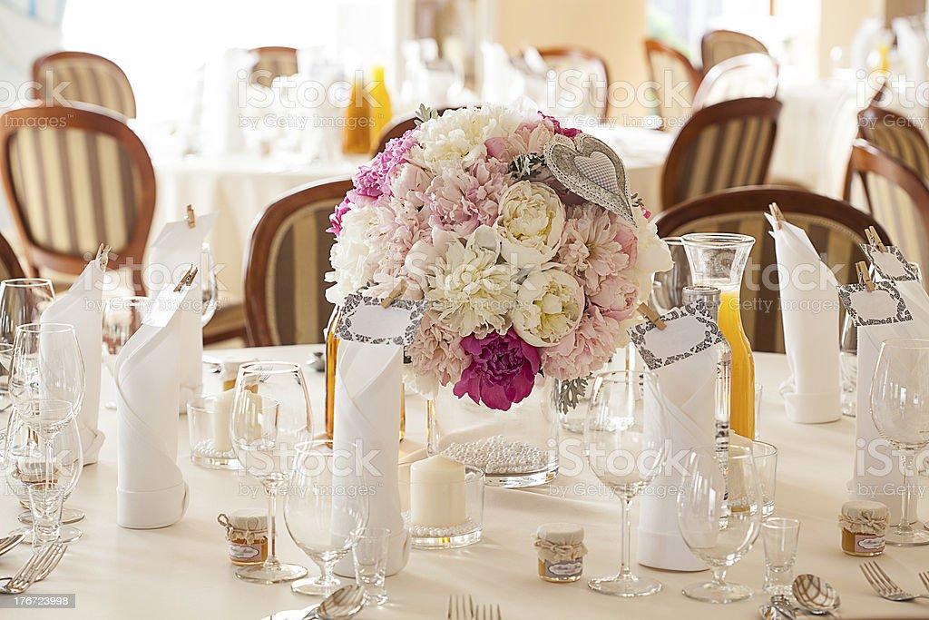 Mediterranean interior - wedding sets royalty-free stock photo