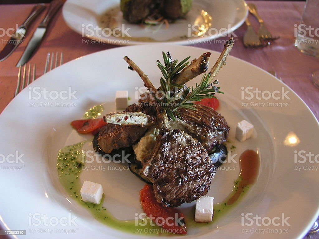 Mediterranean Lamb Cutlets stock photo