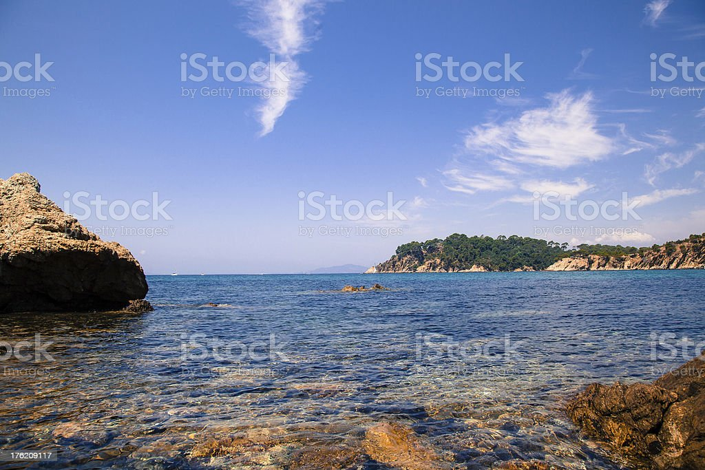 Mediterranean landscape stock photo