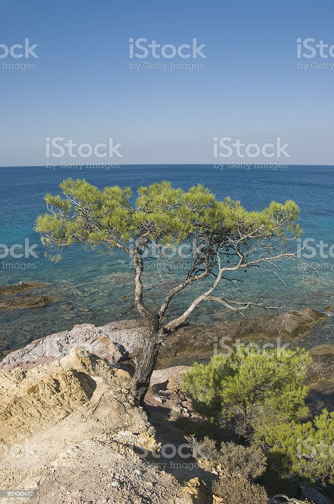 Mediterranean landscape royalty-free stock photo