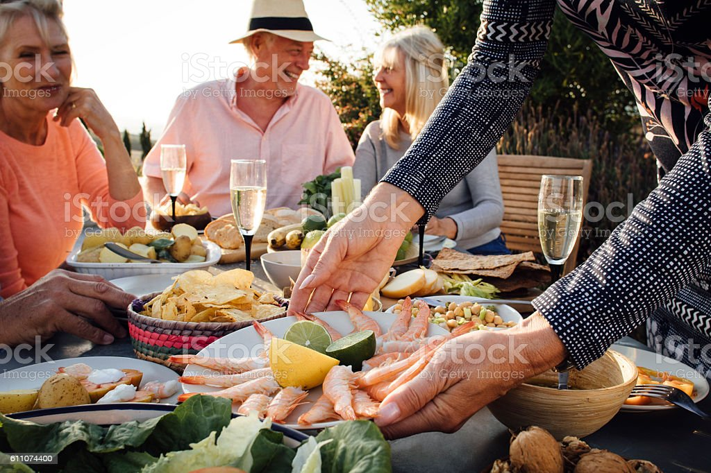 Mediterranean Meal stock photo