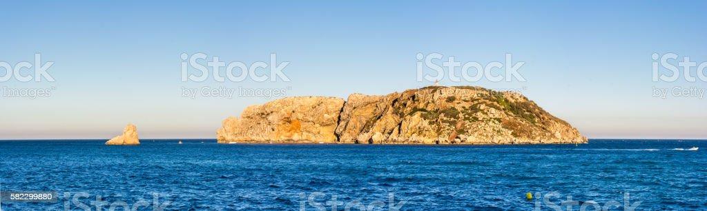 Mediterranean Medes islands in Costa Brava stock photo