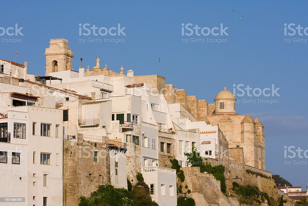 mediterranean medieval city view stock photo