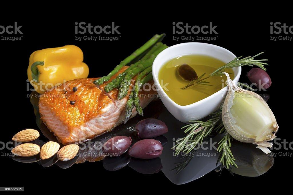 Mediterranean omega-3 diet. royalty-free stock photo
