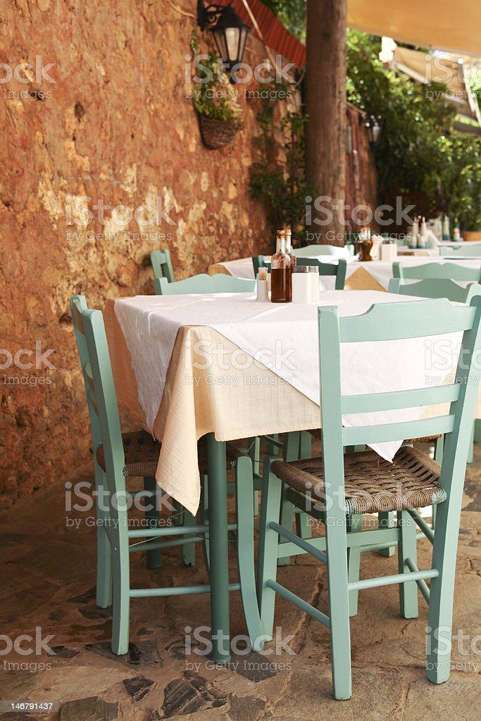 Mediterranean outdoor cafe royalty-free stock photo