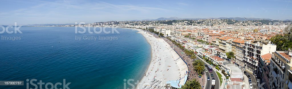 Mediterranean Panorama (XXL) royalty-free stock photo