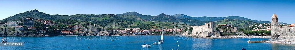 Mediterranean Panorama royalty-free stock photo