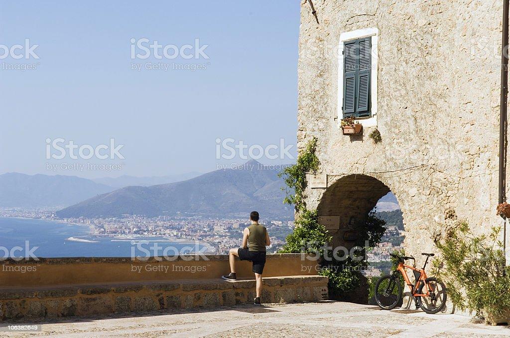 Mediterranean Patio. Color Image royalty-free stock photo
