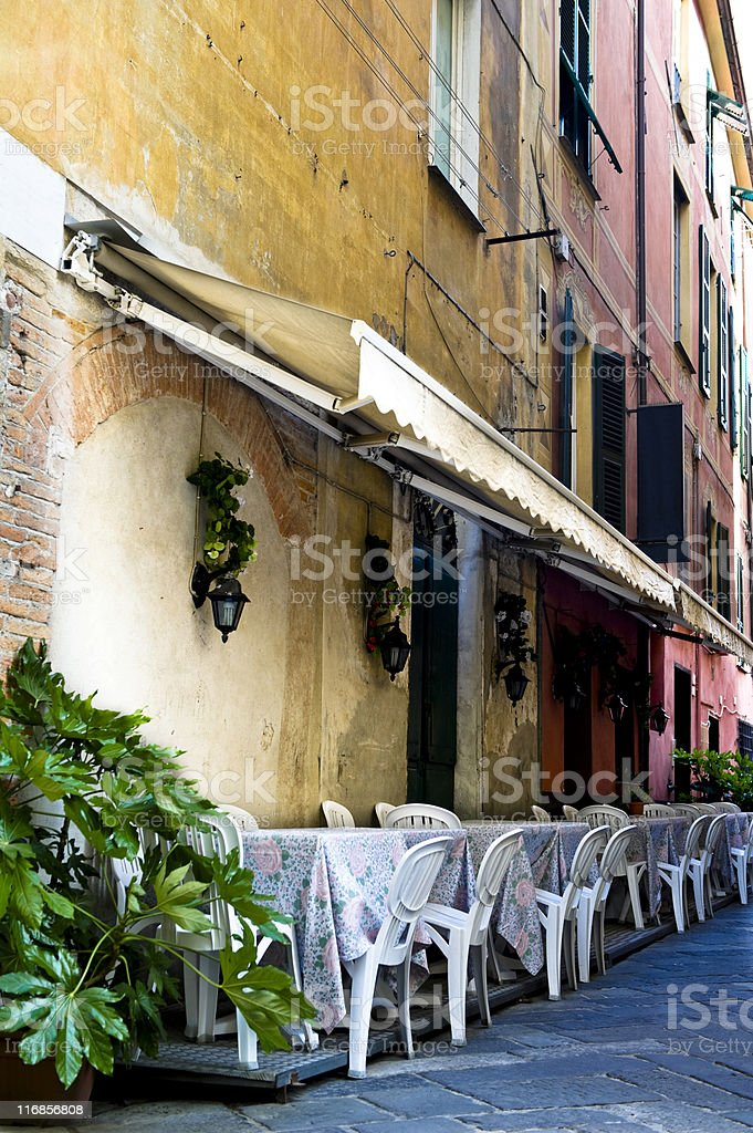 Mediterranean patio royalty-free stock photo