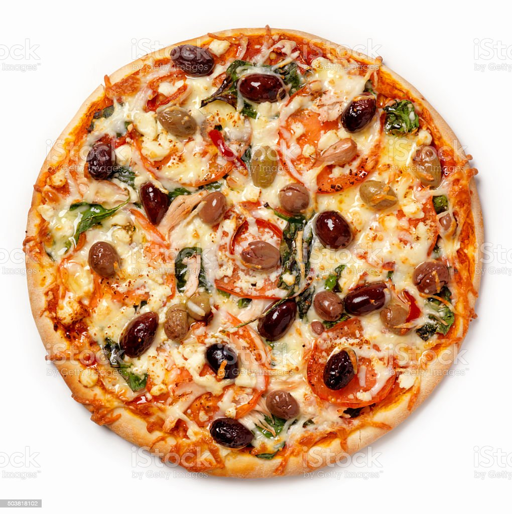 Mediterranean Pizza stock photo