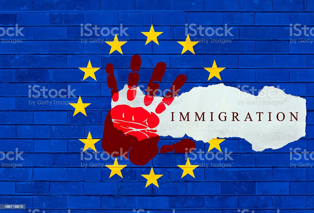 Mediterranean Refugee Crisis stock photo