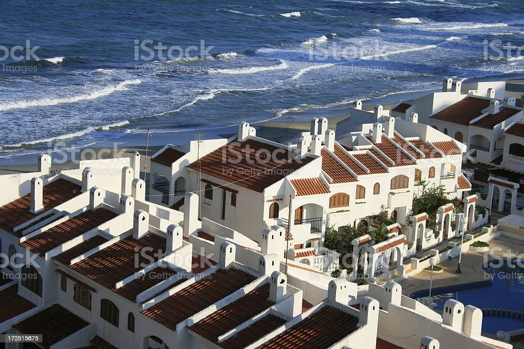 Mediterranean resort stock photo