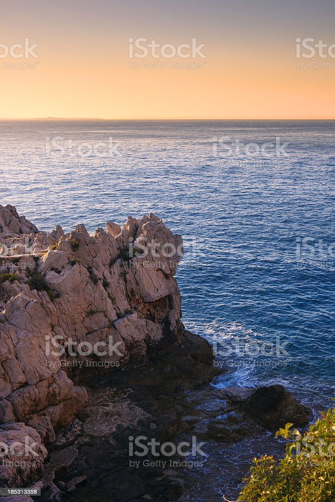 Mediterranean Riviera of France royalty-free stock photo