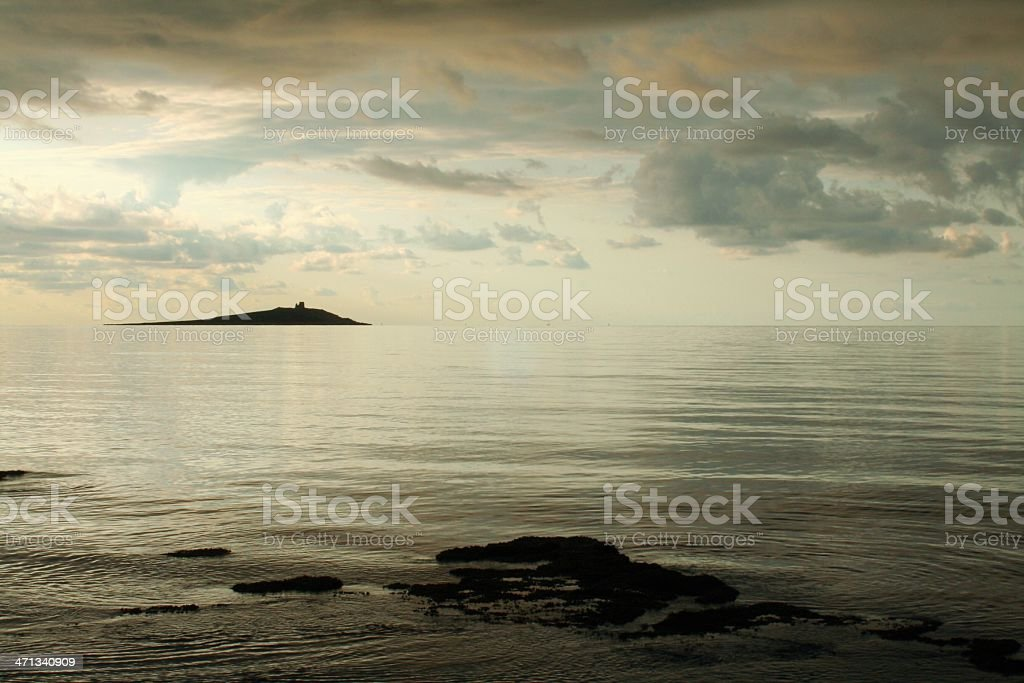 Mediterranean rocky island stock photo