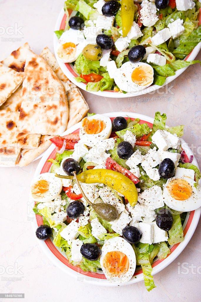Mediterranean Salad Greek Style royalty-free stock photo