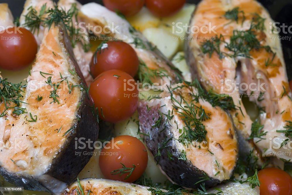 Mediterranean salmon royalty-free stock photo