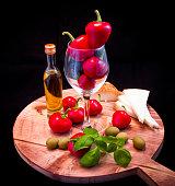 Mediterranean sauce for pasta, bruschetta, salad or sandwich