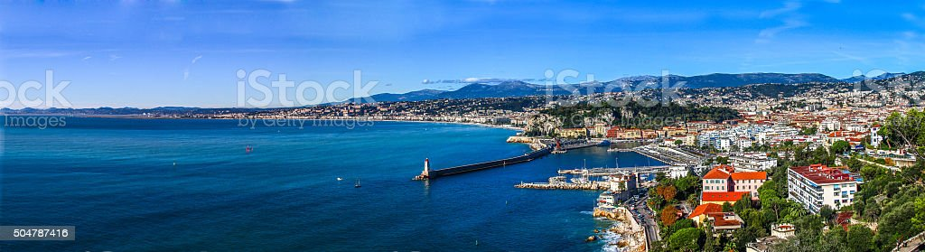 Mediterranean sea at Cote d Azur, Nice, South France stock photo