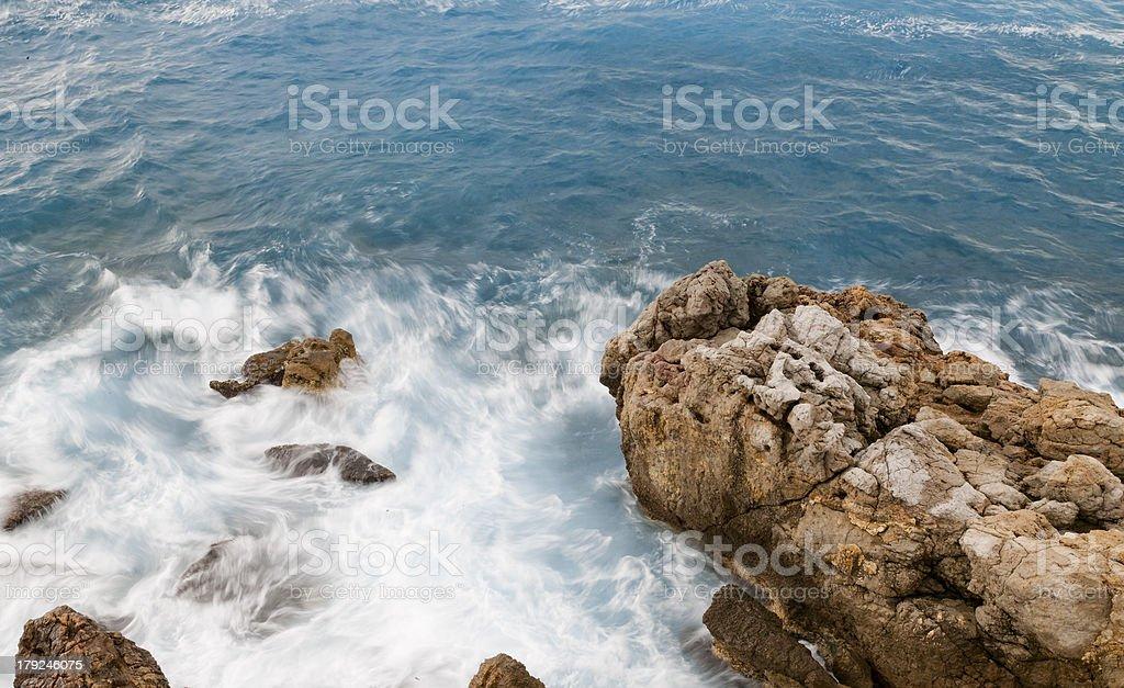 Mediterranean Sea coastline royalty-free stock photo