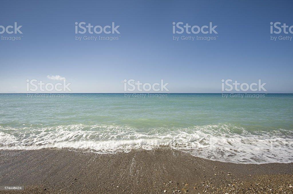 Mediterranean sea from the beach, Sicily royalty-free stock photo