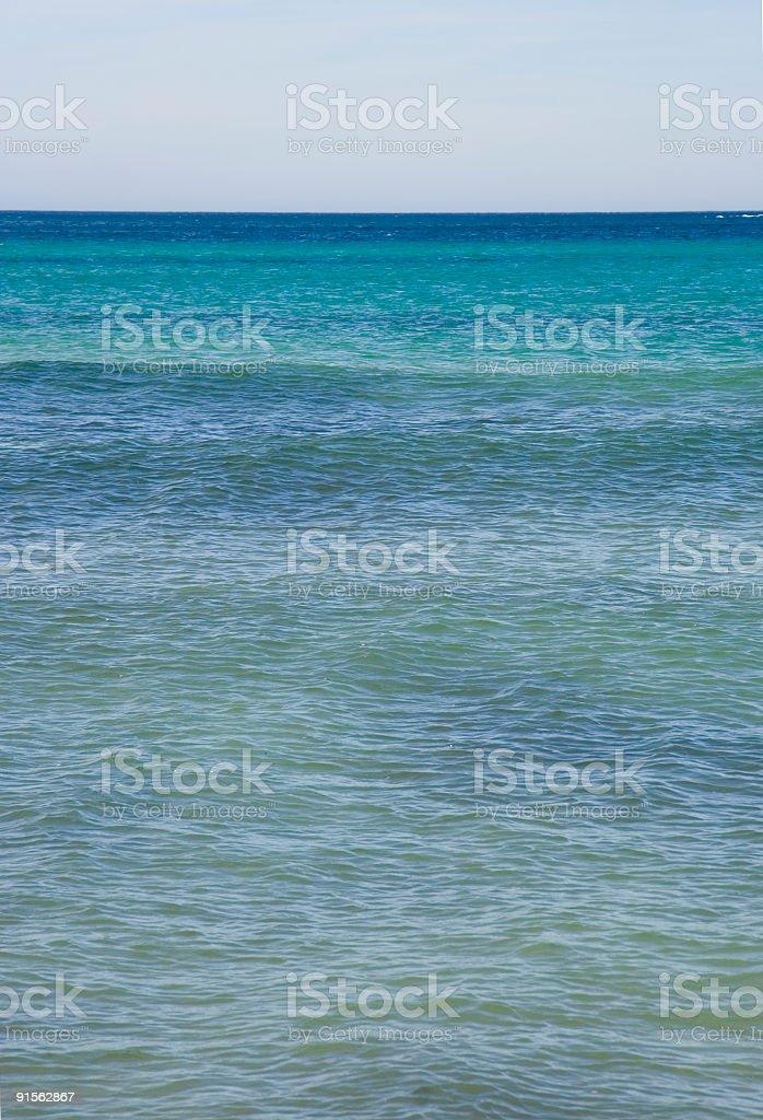 mediterranean sea in azure royalty-free stock photo