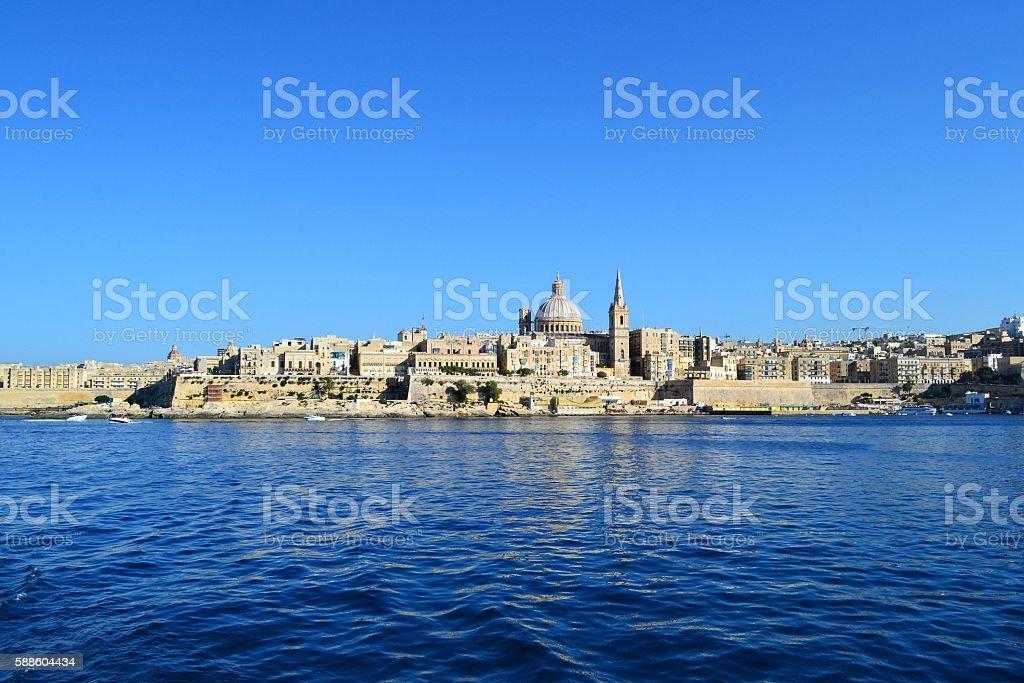 Mediterranean sea, Malta stock photo